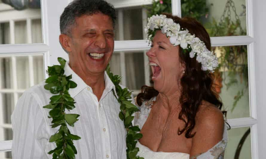 Brooks and Maurizio on their wedding day in 2011