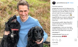 Instagram feeds, such as this one by Gavin Williamson, often become political battlegrounds, but are difficult to police.