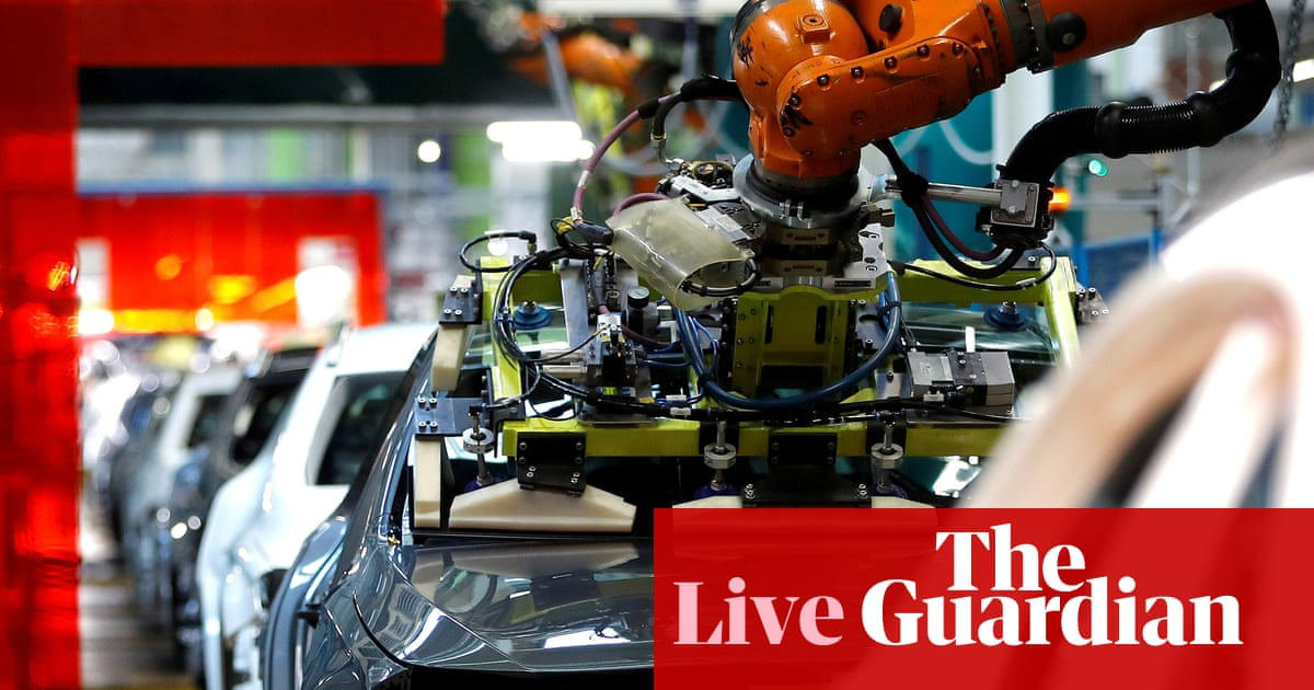 German factory orders unexpectedly drop as supply problems mount – business live