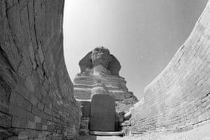 Sphinx Giza, 1970