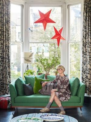 Ally Capellino green sofa