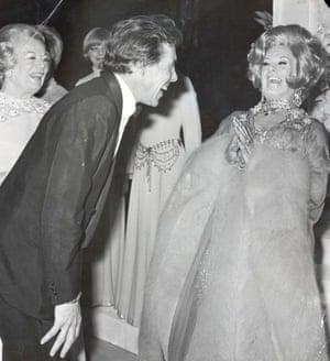 Lord Snowdon and Danny La Rue Danny at the Palace Theatre, London, 1970