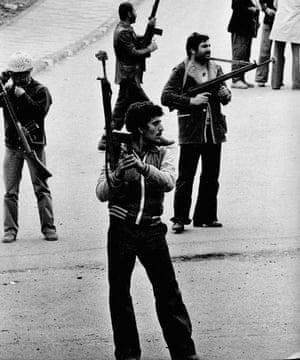 Rifle-toting revolutionaries, winter 1978-9.