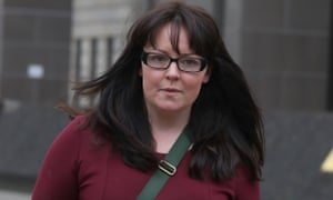 Natalie McGarry outside Glasgow sheriff court