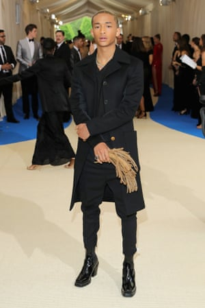 Jaden Smith attended the Rei Kawakubo/Comme des Garcons: Art Of The In-Between gala in 2017 – accessorising with a fistful of his own dreadlocks.