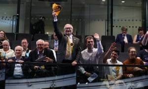 Liberal Democrat supporters at City Hall in London