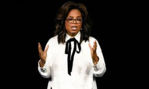 Oprah Winfrey speaks during an event to mark the launch of Apple TV+ in March.