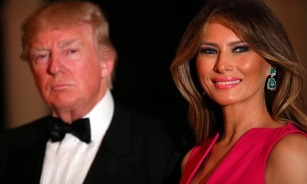 Donald and Melania Trump at a Red Cross gala near their home in Florida this month. She was absent when Japanese prime minister Shinzō Abe and his wife, Akie, visited Washington last week.