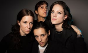 Savages:<em> (clockwise from left)</em> Fay Milton, Ayşe Hassan, Gemma Thompson and Jehnny Beth.