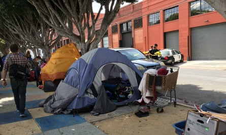 Police were called to a homeless encampment in San Francisco's Mission District (pictured) by the city's homeless outreach team.