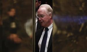 Tom PriceElevators close on Rep. Tom Price, R-Ga., as he arrives at Trump Tower, Wednesday, Nov. 16, 2016, in New York. (AP Photo/Carolyn Kaster)
