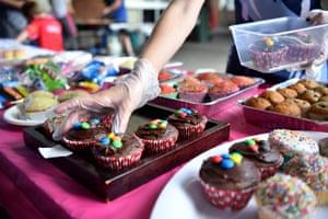 Cakes for sale at St Joseph Catholic primary school in Maroubra, Sydney.