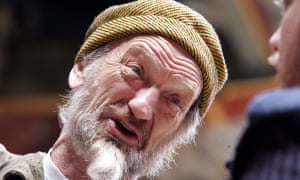 John McEnery as Shylock in The Merchant of Venice at the Globe theatre, London, in 2007.