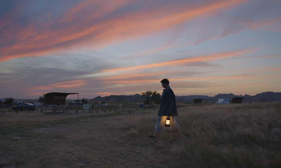 Frances McDormand in Nomadland by Chloe Zhao.