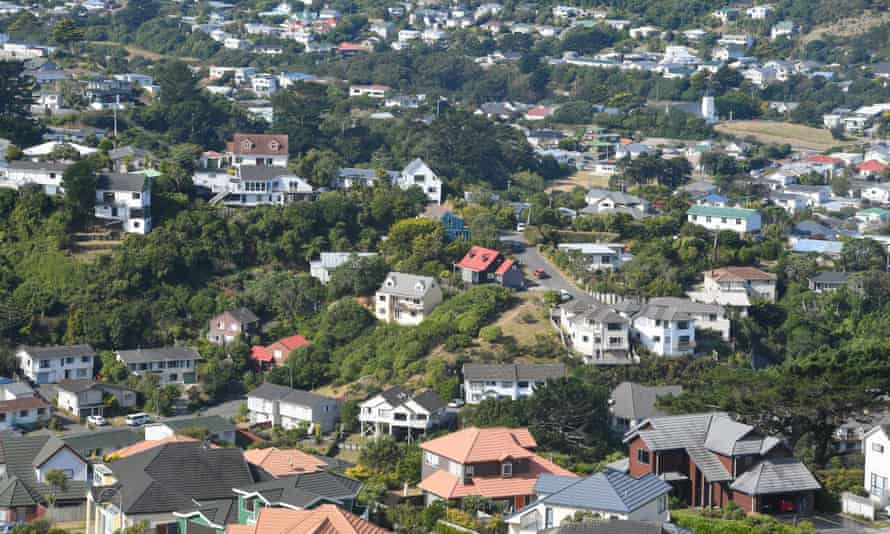 New Zealand Housing Market Package Plan - 23 Mar 2021Mandatory Credit: Photo by Xinhua/REX/Shutterstock (11826738f) Photo taken on March 23, 2021 shows a view of a residential area near Wellington, New Zealand. The New Zealand government revealed its package housing plan on Tuesday to cool down the soaring property market. New Zealand Housing Market Package Plan - 23 Mar 2021