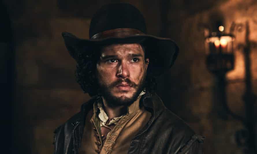 Kit Harington playing his ancestor Robert Catesby in Gunpowder.