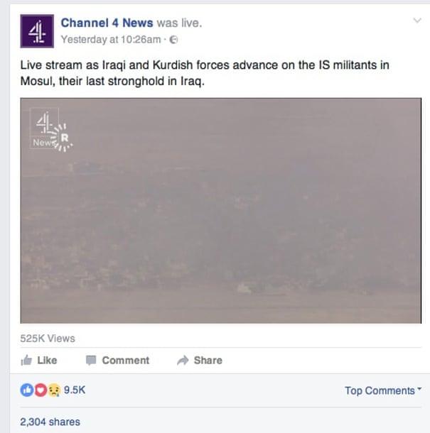 Channel 4 News defends Facebook live stream of battle for