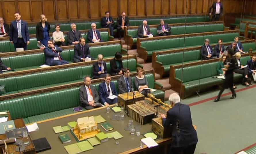 Brexit Secretary David Davis speaks in the House of Commons, London, during Brexit questions.