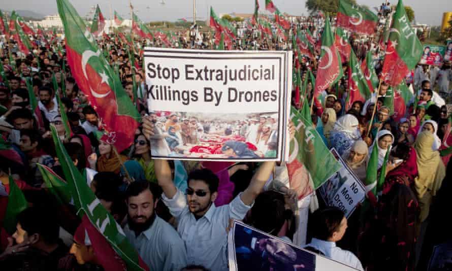 pakistan protest us drone strikes