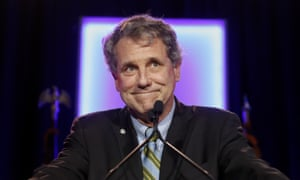 Senator Sherrod Brown pitched himself who could appeal to voters in northern, post-industrial 'rust belt' states who backed Donald Trump in 2016.