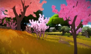 Forest scene in The Witness