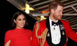 Harry and Meghan arrive at Royal Albert Hall in London in March.