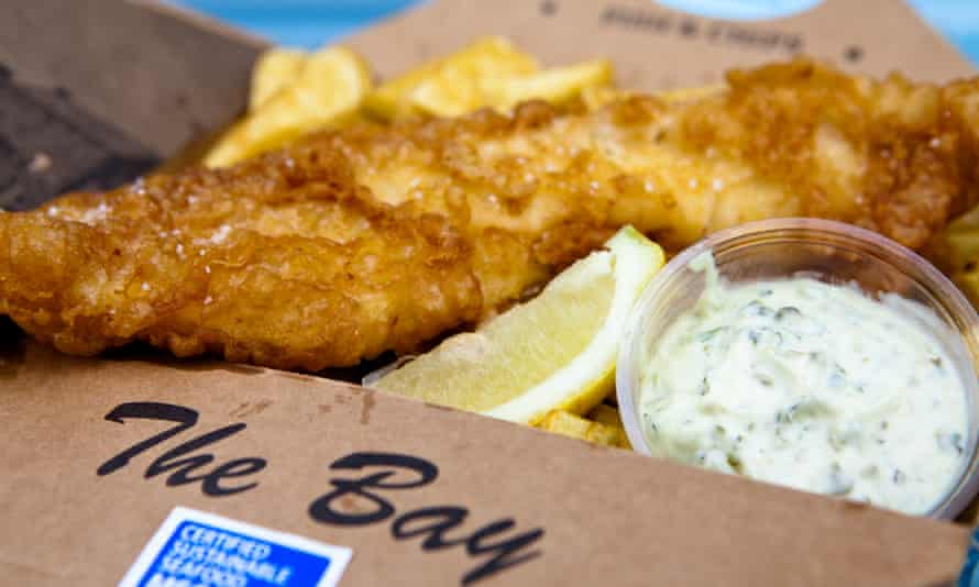 Fresh fish and chips from the the Bay, Stonehaven.