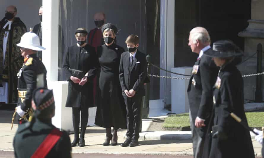 The Countess of Wessex at Windsor Castle for the funeral of Prince Philip