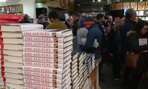 A queue for Fire and Fury at Kramerbooks, in Washington.