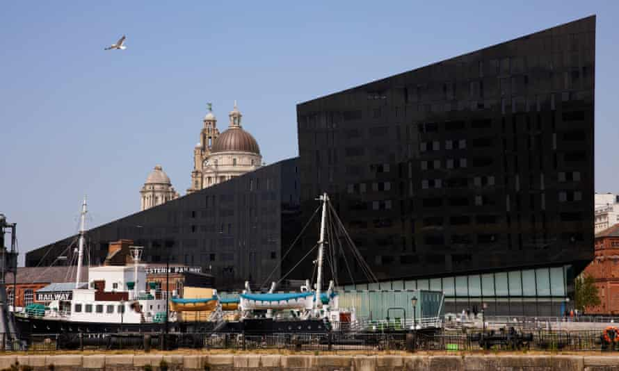 The waterfront area in Liverpool.
