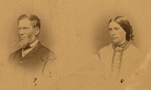 Settlers John Barton Hack and Emily Hack, circa 1870.