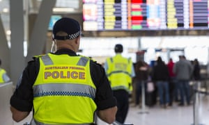 An AFP officer at Sydney airport