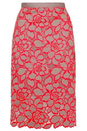 10 Fluorescent lace pencil, £65, topshop.com