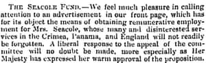 Observer 3 Feb 1867 The Seacole Fund
