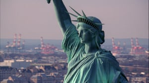 the Statue of Liberty, in a still from Steve McQueen's film Static, 2009.