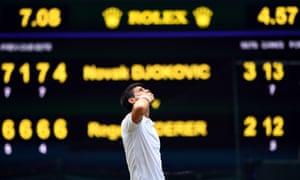 Serbia's Novak Djokovic celebrates.