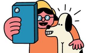 Nav and Newshound reading the news