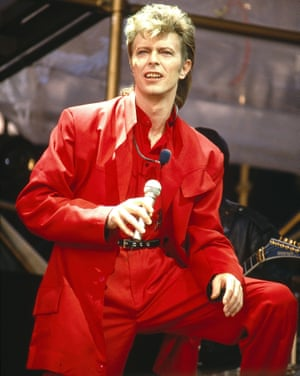 David Bowie on his Glass Spider tour in Rotterdam 1987
