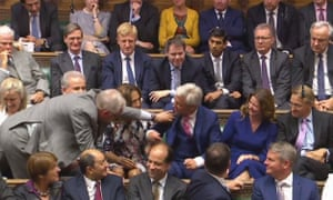 Bercow is led from his seat in the Commons to the Speaker's chair after being unanimously re-elected in 2017
