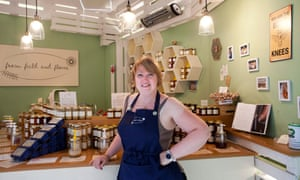 Samantha Wallis standing in front of her stall, From Field & Flower.