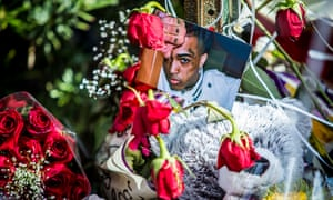 'His fame and his music was bound up with his infamy' ... flowers laid where XXXTentacion was shot in Florida.