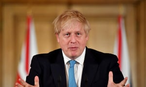Boris Johnson speaking during his press conference.