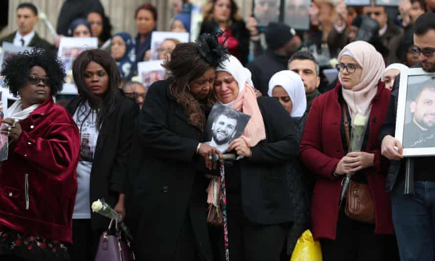 Mourners leave after attending the Grenfell Tower National Memorial Service at St Paul's Cathedral.
