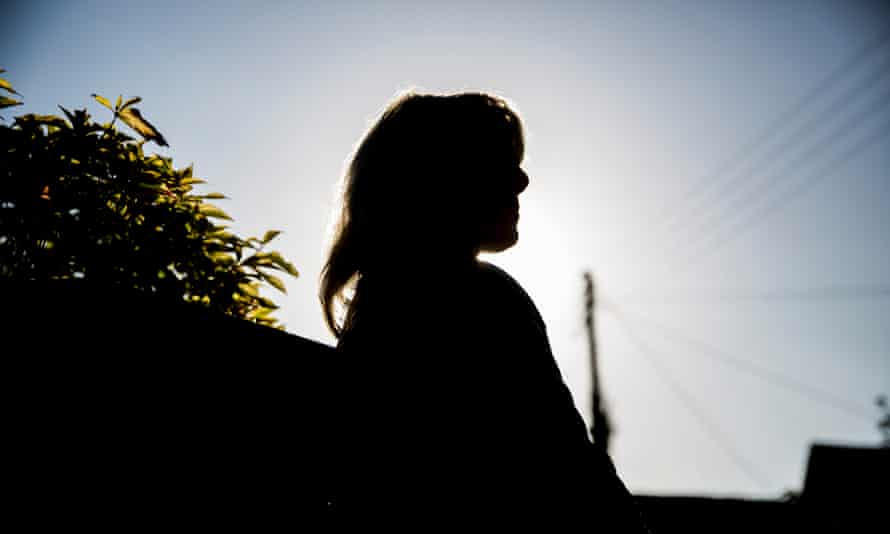 Silhouette of a woman outside
