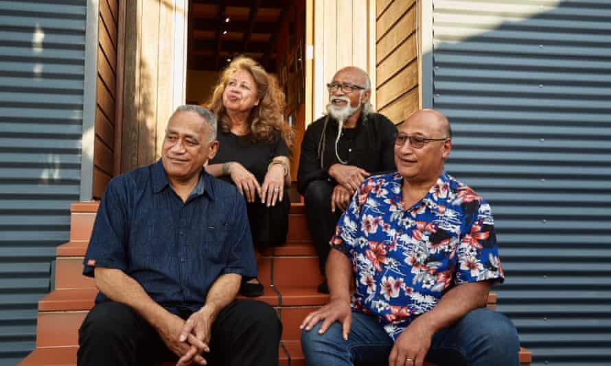 Polynesian Panthers, (clockwise from top left) Dr Melani Anae, Tigilau Ness, Fuimaono Tuiasau, Reverend Alec Toleafoa