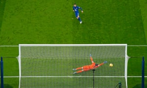 Chelsea's Jorginho slots home from the penalty spot for the only goal of the game.