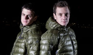 Alistair Brownlee, right, and his brother Jonny