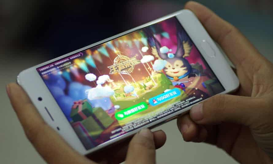 The mobile game Honor of Kings, Tencent's most profitable game.