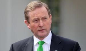 The Irish taoiseach, Enda Kenny