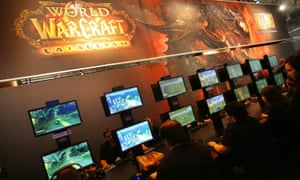 Gamers play 'World of Warcraft' in Cologne, Germany.